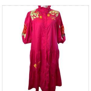 Vintage Raquel Unger Boho Embroidered Dress